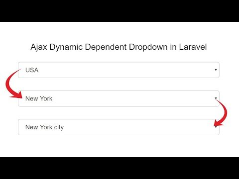 Laravel Dynamic Dependent Dropdown using Ajax