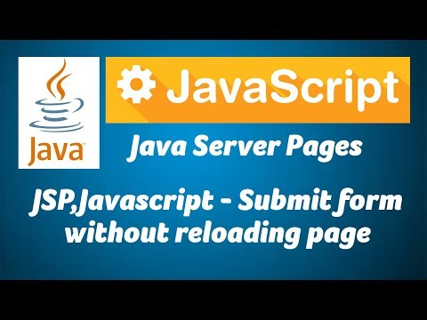 JSP,Javascript - Submit form without reloading page