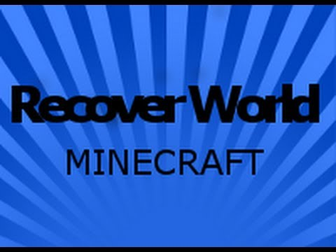 Minecraft How to recover lost save - worlds