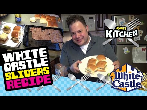 How to make White Castle Slider Burgers at home clone copycat recipe - John's Kitchen Episode #2