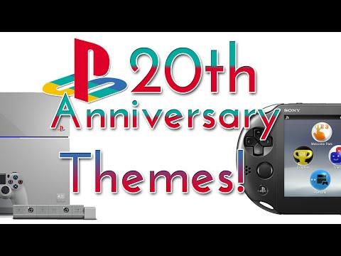 PlayStation 20th Anniversary Themes on PS Vita & PS4!