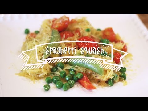 Healthy Recipes | Spaghetti Squash with Tomatoes and Peas