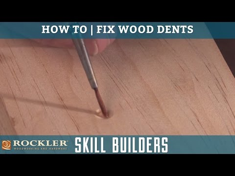 How to Fix and Repair Dents in Wood | Rockler Skill Builders
