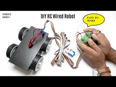 How to make a wired rc car at home very easily/Three sides/sid talesara