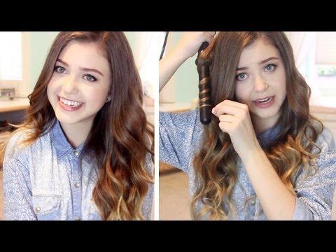How I Curl my Hair: Loose Wavy Curls   lindseyrem