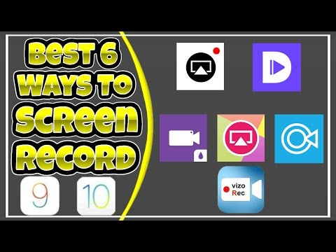 Best 6 Ways To Screen Record iOS 10/9! NO PC/JB!