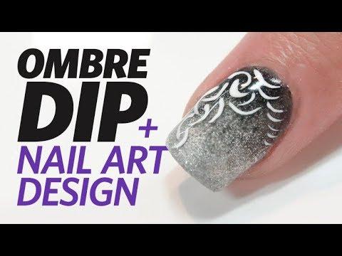 Ombre Dip Nail Demo Using NSI Simplicité PolyDip System