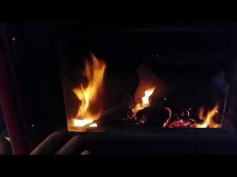 How to clean a glass wood stove door and keep it clean