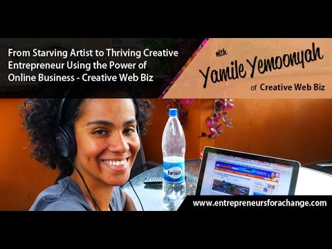 Yamile Yemoonyah of Creative Web Biz - Creative Entrepreneurship Using the Power of Online Business
