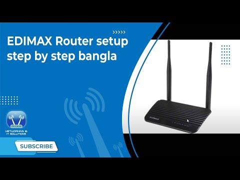 EDIMAX Router setup step by step bangla