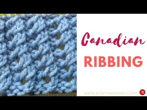 Knitted Canadian Ribbing - Stretch Knitting Patterns - Elastic Knit