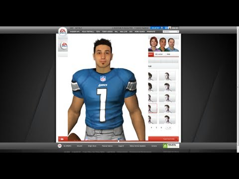 Madden 13 - How To Create YOUR Game Face