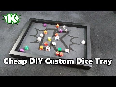 Cheap DIY Custom Dice Tray!