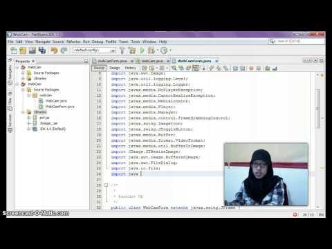 Tutorial Netbeans with Java : WebCam Application & Capture Image #1