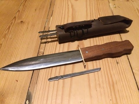 Dagger + 'Needle' Knives with Sheath