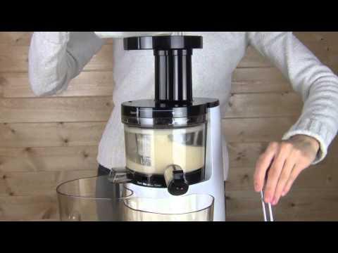 Hurom Premium Slow Juicer & Smoothie Maker Making Soy Milk