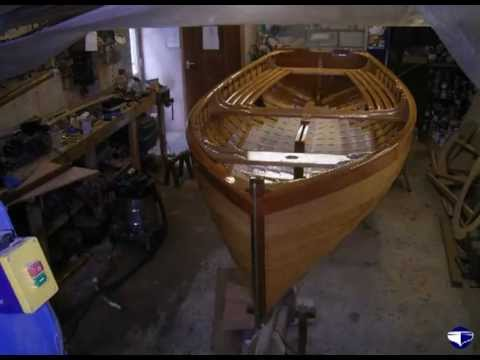 Timelapse film of the Mayflower, a 14' clinker dinghy built by Marcus Lewis at Fowey