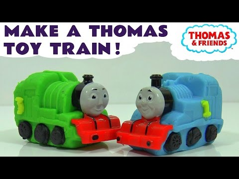Thomas & Friends make some Toy Trains with Dough - Like Play-Doh - Fun toys for kids TT4U