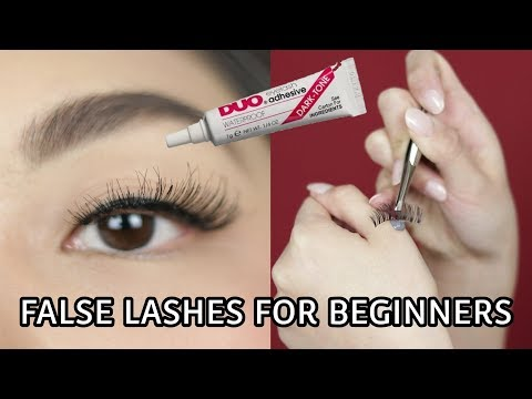 HOW TO APPLY FALSE LASHES | FALSIES 101 FOR BEGINNERS
