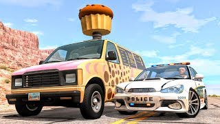 Crazy Police Chases #49 - BeamNG Drive Crashes