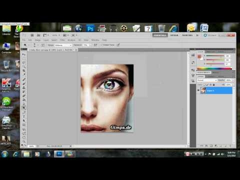 Adobe Photoshop CS5 (and CS4): Rainbow Eye tutorial (With Voice)