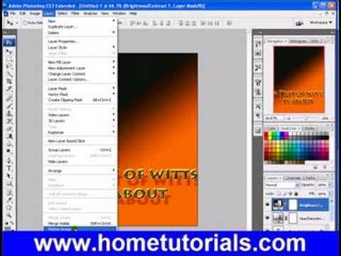 Photoshop Lesson 26 Flatten Merge Layers