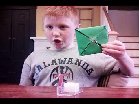 how to make a paper square ninga star
