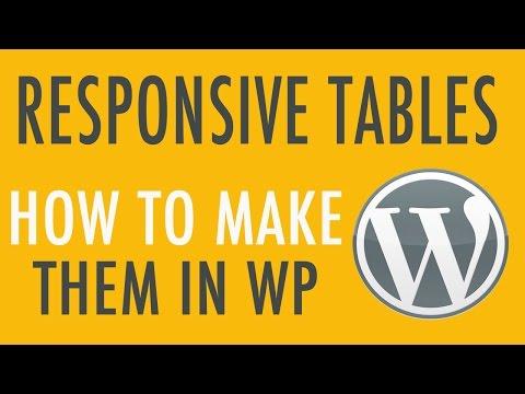 Making Columns in WordPress - Responsive Tables