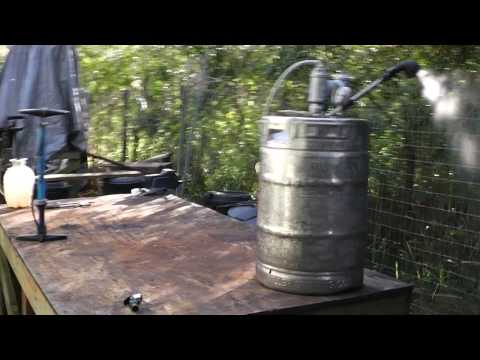 Beer Keg Portable Hot Shower No Electricity or Propane Required