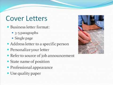 Resumes Cover Letters and References.wmv