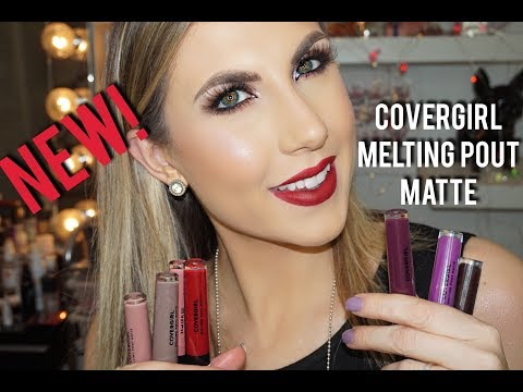NEW! COVERGIRL MELTING POUT MATTE LIQUID LIPSTICK | REVIEW & DEMO