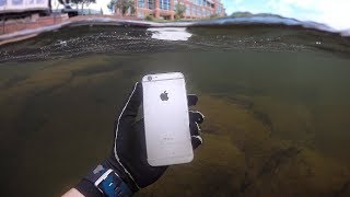 Found iPhone, Knife and Jewelry Underwater in River! (Scuba Diving)