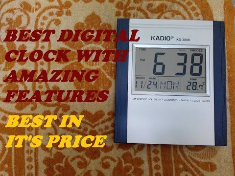 BEST DIGITAL CLOCK WITH AMAZING FEATURES | HOW TO SET TIME AND MORE