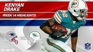 Kenyan Drake Explodes for 193 Total Yards vs. Pats!   Patriots vs. Dolphins   Wk 14 Player HLs