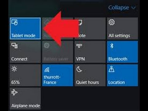 How to make your WINDOWS 10 pc/laptop to tablet mode free BTW