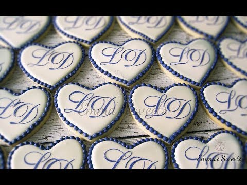 How to Make Monogram Cookies by Emma's Sweets