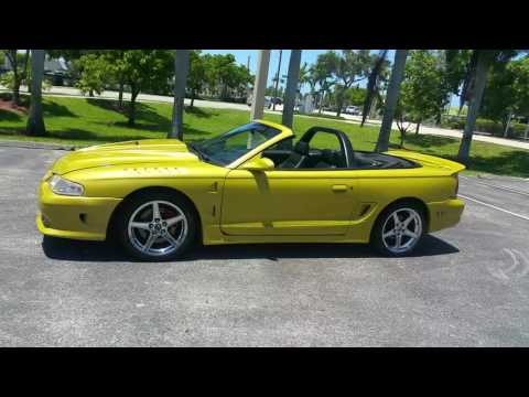 1998 ford Mustang  convertible  gt saleen package