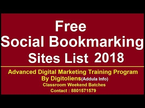 Free Social Bookmarking sites list 2018 | Digitoliens (Addula info)