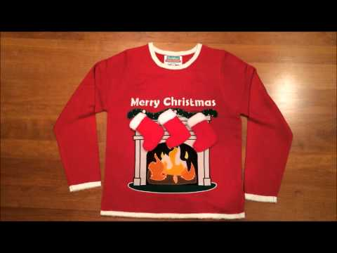 Lighted Fireplace Ugly Christmas Sweater by Festified