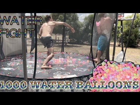 TRAMPOLINE VS 1000+ WATER BALLOONS