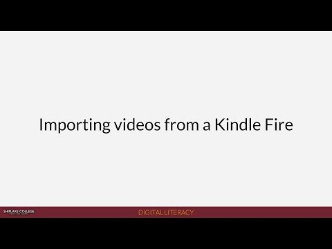 Shiplake News (2018): Importing videos from a Kindle Fire tablet to use in Serif MoviePlus