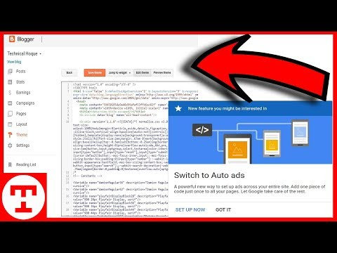 How To Add Google Adsense Auto ads code On Blogger