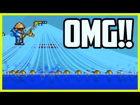 Terraria FISHING GLITCH - SUPER FAST FISHING! Infinite Fishing Rod Lines, Terraria Glitches 1.3