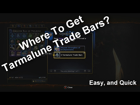 How To Get Tarmalune Trade Bars FAST!