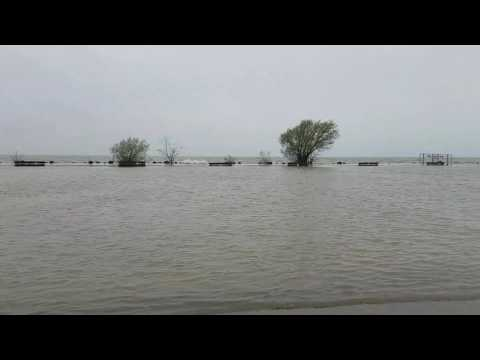 Never before - Port dalhousie is flooded!
