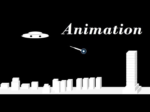How to do animation in PowerPoint – An UFO fired LASER gun to blast a city building