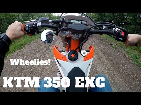Beginner Learning to Wheelie a Dirt Bike - KTM 350 EXC-F (Motovlog)