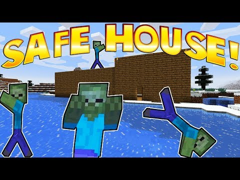 LEGO ZOMBIE SAFE HOUSE! - Minecraft Gameplay - Crafting a Brick Rigs Lego Statue! - Voxel Game