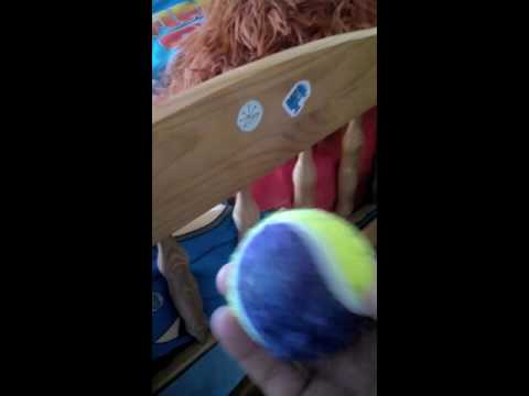 How to remove stickers from bed frames and lockers with a tennis ball