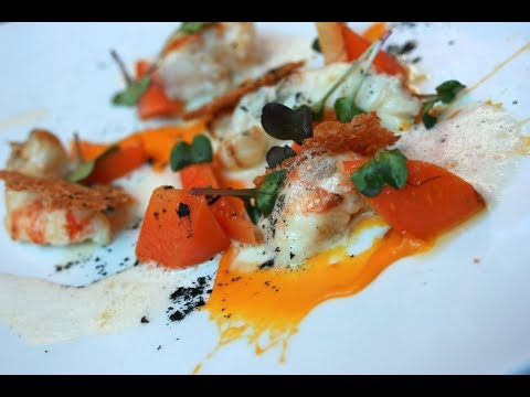 Pan Fried Langostines with Carrots